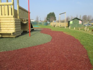 Resin Bonded Rubber Bark (Single Colour, Green and Red/Brown)