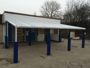Wall Mounted Metal Shelter