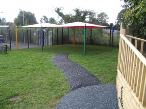 6 Post Maxim Shade Canopy on Artificial Grass