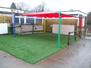 Maxim Shade Canopy on Artificial Grass