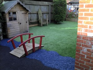 Artificial Grass and Rubber Bark