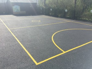 Wet Pour Rubber Surface with Markings
