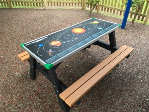 Picnic Bench with Game Top