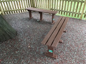 Individual Recycled Plastic Benches