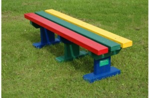 Individual Recycled Plastic Bench