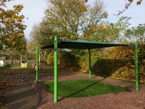 Maxim Shade Canopy Systems over Artificial Grass