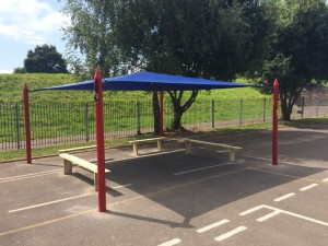 Maxim Shade Canopy System with Bench Seats