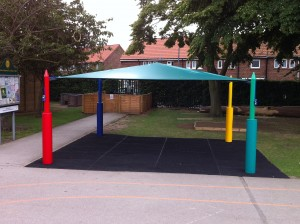 Maxim Shade Canopy System over Grass Matting