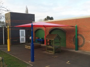 Maxim Shade Canopy System - red top