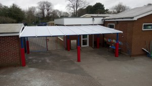 Polycarbonate and Metal Shelter