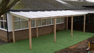 Polycarbonate and Timber Shelter
